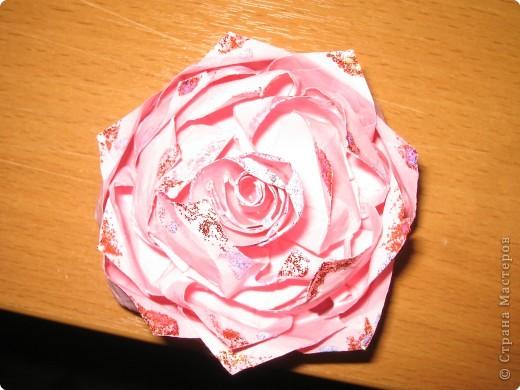 Мастер-класс Оригами: Розочка Бумага. Фото 20