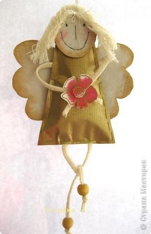 Оберег: Ангел мой, будь со мной..... Бумага, Картон Новый год, Рождество. Фото 2