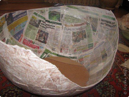 Мастер-класс Папье-маше: Мастер-класс Мягкое кресло для сынули. Бумага, Бумага газетная, Бумага журнальная, Картон, Клей, Поролон, Скотч, Ткань, Фанера. Фото 8