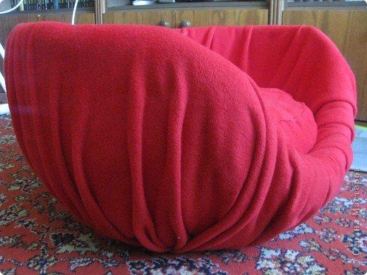 Мастер-класс Папье-маше: Мастер-класс Мягкое кресло для сынули. Бумага, Бумага газетная, Бумага журнальная, Картон, Клей, Поролон, Скотч, Ткань, Фанера. Фото 15