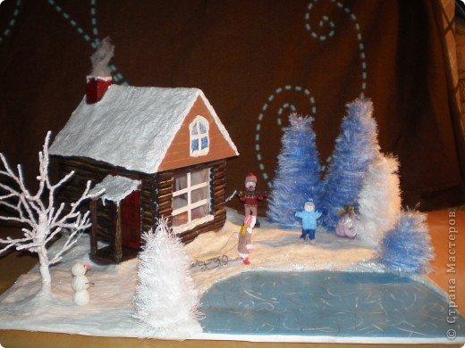 """Наш макет """"Рождественское утро"""". На выставку. Бумага Рождество. Фото 1"""