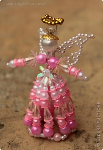 Мастер-класс, Поделка, изделие Бисероплетение: Розовый Ангел Мастер -класс Бисер, Бусинки. Фото 1