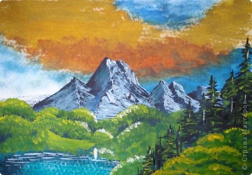Мастер-класс, Урок рисования Рисование и живопись: Осень в горах. Гуашь Праздник осени. Фото 1