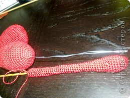 Мастер-класс Вязание крючком: к дню Святого Валентина Нитки Валентинов день. Фото 9