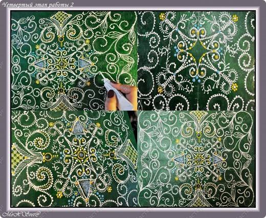 "Мастер-класс Роспись: Мастер - класс ""Малахитовая шкатулка"" Бумага. Фото 6"