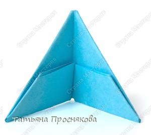 Мастер-класс Оригами модульное: Треугольный модуль оригами Бумага