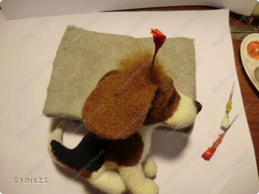 Мастер-класс Валяние (фильцевание): мастер-класс по щеночку бигли. Часть 2. Шерсть Дебют. Фото 43