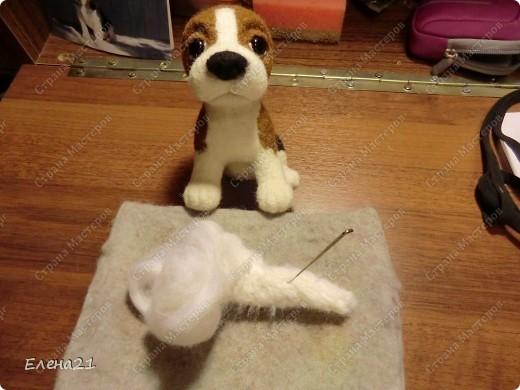 Мастер-класс Валяние (фильцевание): мастер-класс по щеночку бигли. Часть 2. Шерсть Дебют. Фото 24