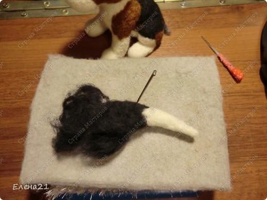 Мастер-класс Валяние (фильцевание): мастер-класс по щеночку бигли. Часть 2. Шерсть Дебют. Фото 25