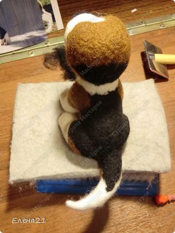 Мастер-класс Валяние (фильцевание): мастер-класс по щеночку бигли. Часть 2. Шерсть Дебют. Фото 29