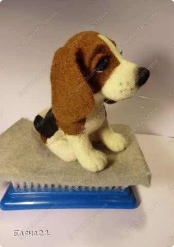 Мастер-класс Валяние (фильцевание): мастер-класс по щеночку бигли. Часть 2. Шерсть Дебют. Фото 54
