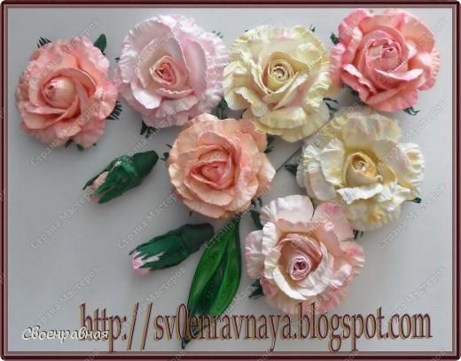 Мастер-класс Бумагопластика: Цветы из бумаги Бумага Свадьба. Фото 1