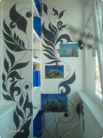 Интерьер Роспись: Декорирую балкон Краска. Фото 19