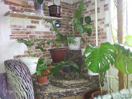 Интерьер, Поделка, изделие Лепка: Небольшой МК как я делала уютный уголок для комнатных растений Гуашь, Материал природный, Пенопласт Дебют. Фото 6