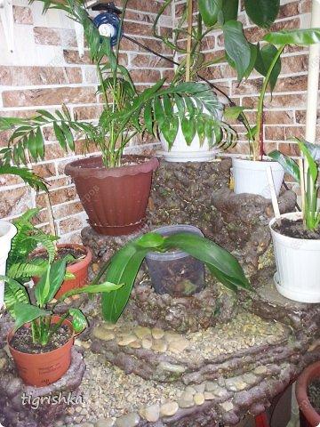 Интерьер, Поделка, изделие Лепка: Небольшой МК как я делала уютный уголок для комнатных растений Гуашь, Материал природный, Пенопласт Дебют. Фото 1