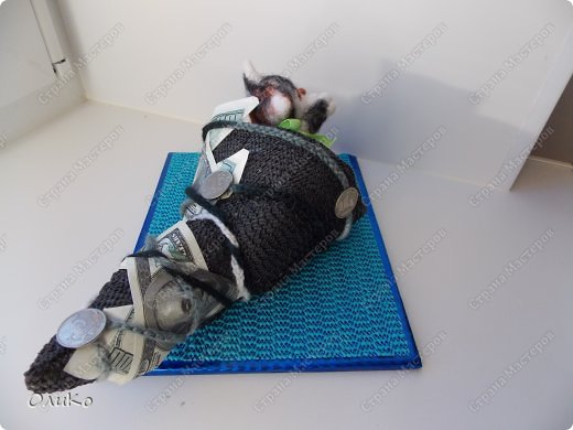 Фэн-шуй Валяние (фильцевание): Манэки - нэко - денежный кот Шерсть Новый год. Фото 5
