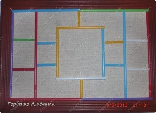 Мастер-класс Поделка изделие Ассамбляж Панно из природных материалов+небольшой МК Материал природный Трубочки коктейльные фото 19