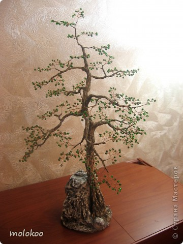 Бонсай, топиарий, Мастер-класс Бисероплетение, Моделирование: СОСНА и МК по стволам деревьев  Бисер. Фото 2