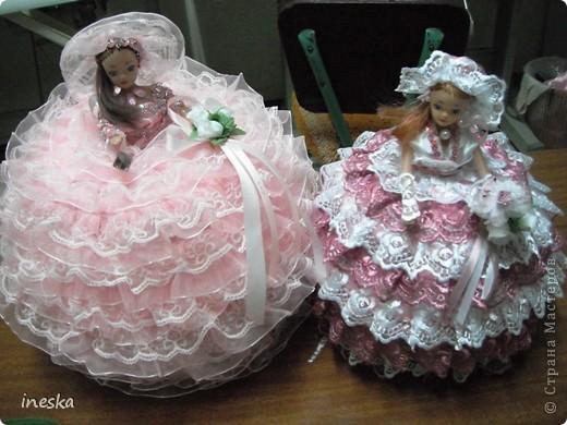 Куклы, Мастер-класс Шитьё: Мои шкатулки Барби обещанный МК 8 марта, Валентинов день, День рождения, День семьи, Новый год. Фото 1