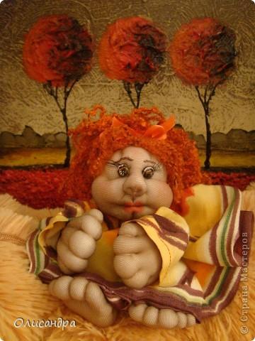 Благодаря Ликме, полюбила текстильные игрушки...Больше всего понравилось делать попиков.Это моя вторая куколка.... Фото 2