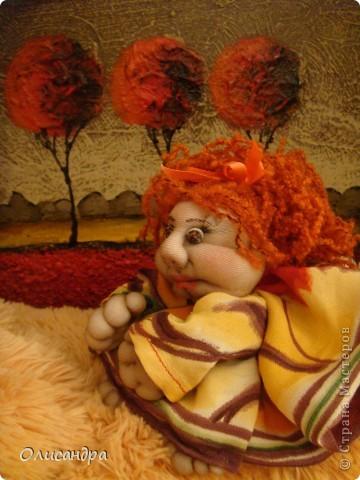 Благодаря Ликме, полюбила текстильные игрушки...Больше всего понравилось делать попиков.Это моя вторая куколка.... Фото 3