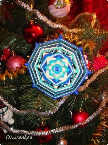 """Новый год уже наступил,а я все """"снежинки"""" делаю... Правда, начала  делать еще в прошлом году, но что-то не заладилось и она попала в """"долгий ящик""""..... Фото 1"""