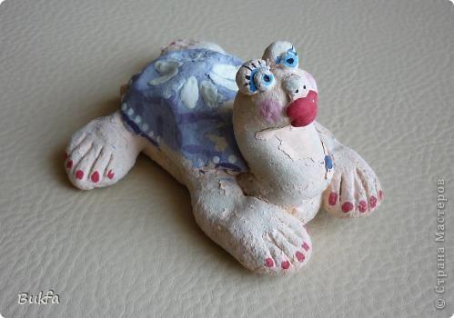 Дорогие мастерицы и мастера! Я, наконец-то пришла к концу серии фоторепортажей (ха-аха) о небольшой коллекции черепах, которую собирали мы всей семьюй. Если заинтересовались посмотрите раньше загруженные здесь: http://stranamasterov.ru/node/151515 http://stranamasterov.ru/node/151571 http://stranamasterov.ru/node/151613 http://stranamasterov.ru/node/152140 http://stranamasterov.ru/node/152480 http://stranamasterov.ru/node/152628  Закончить решила показом черепах самодельных. Таких тоже есть немножко. Надо бы расширить их ассортимент, да появилось другое увлечение - фигурки ангелов. Ну ладно хватит распинаться. Это сборная модель черепахи. Вот она-то самая большая в доме. Опять моя любимая водяная. Собирал сын, он тогда в школе учился. Конечноиз покупного набора. Но все-таки поделка. Или нет?. Фото 7