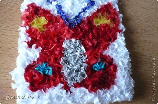 Мастер-класс Торцевание: Бабочка+МК Ткань. Фото 1