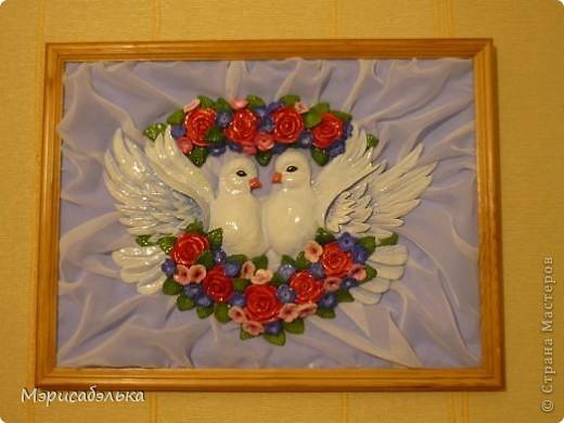 Картина, панно, рисунок Лепка: Голуби Тесто соленое. Фото 7
