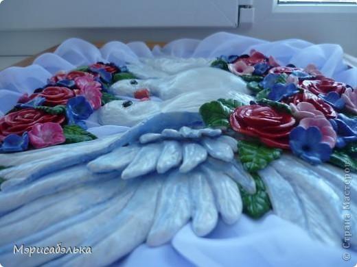 Картина, панно, рисунок Лепка: Голуби Тесто соленое. Фото 5
