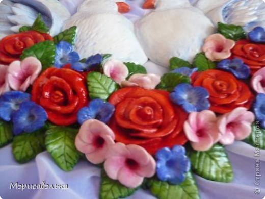 Картина, панно, рисунок Лепка: Голуби Тесто соленое. Фото 6
