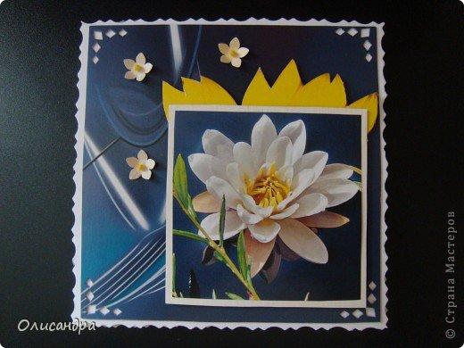 """Девочки! Как называется этот цветок? ******************************************* Окрыленная положительными отзывами, решила повторить свой эксперимент... и сделать еще одну открытку-стойку... Т.е. хотела ,просто, повторить то,что уже делала,но с другой картинкой... http://stranamasterov.ru/node/215641  Т.е. думать не хотелось, хотелось сделать быстренько... Но, кажется, быстренько я не умею...  Опять """"муки творчества"""" длились до середины ночи.... Фото 17"""