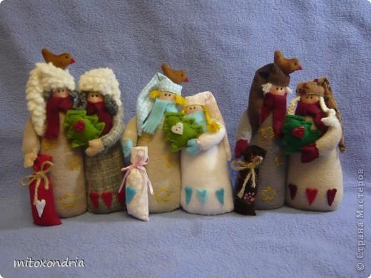 Куклы Шитьё: Нашествие Рождественских неразлучников. Ткань Новый год. Фото 1