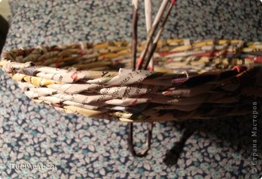 Мастер-класс Поделка изделие Плетение Фруктовница-конфетница-печенюшница Бумага газетная фото 4