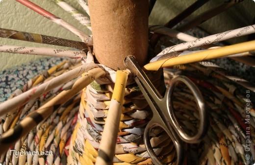 Мастер-класс Поделка изделие Плетение Фруктовница-конфетница-печенюшница Бумага газетная фото 12