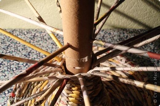 Мастер-класс Поделка изделие Плетение Фруктовница-конфетница-печенюшница Бумага газетная фото 13