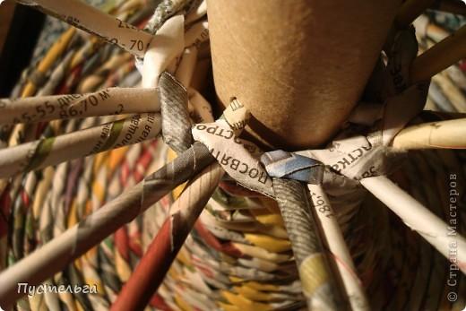 Мастер-класс Поделка изделие Плетение Фруктовница-конфетница-печенюшница Бумага газетная фото 14