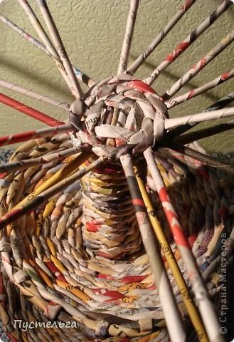 Мастер-класс Поделка изделие Плетение Фруктовница-конфетница-печенюшница Бумага газетная фото 19