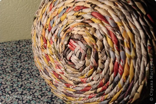 Мастер-класс Поделка изделие Плетение Фруктовница-конфетница-печенюшница Бумага газетная фото 8