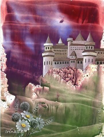 """Картина, панно Монотипия: """"Крепость"""" Акварель. Фото 1"""