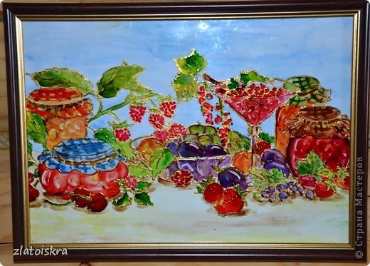 Картина, панно, рисунок, Мастер-класс Витраж: Обещанный МК по витражам Краска, Стекло. Фото 1
