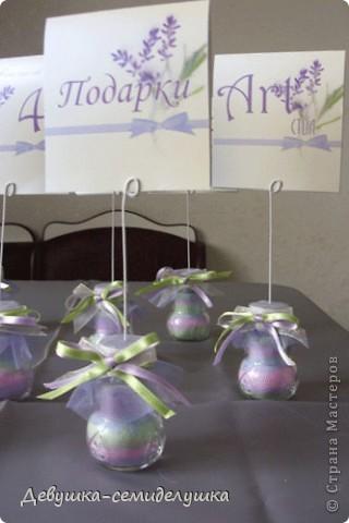 Декор предметов Насыпание: Лавандовая свадьба: посадочные карточки для банкетных столов Проволока Свадьба. Фото 4