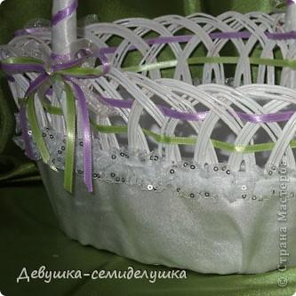 Поделка, изделие: Лавандовая свадьба : корзинка для лепестков роз Свадьба. Фото 3