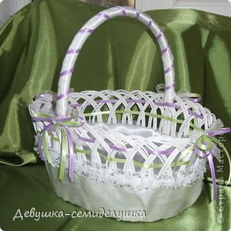Поделка, изделие: Лавандовая свадьба : корзинка для лепестков роз Свадьба. Фото 1