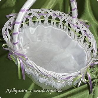 Поделка, изделие: Лавандовая свадьба : корзинка для лепестков роз Свадьба. Фото 2