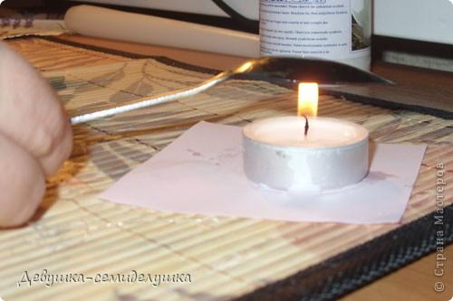 Поделка, изделие Декупаж: МК декупаж на свечках + Лавандовая свадьба: свечи для семейного очага Капрон, Ленты, Салфетки, Свечи Свадьба. Фото 4
