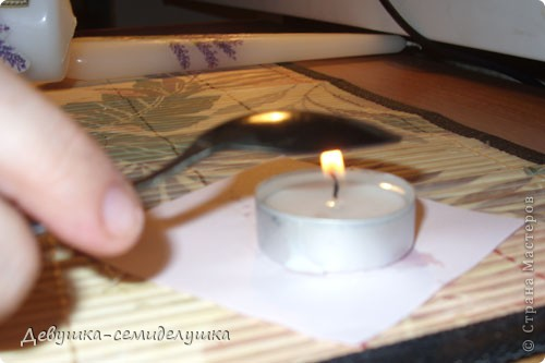 Поделка, изделие Декупаж: МК декупаж на свечках + Лавандовая свадьба: свечи для семейного очага Капрон, Ленты, Салфетки, Свечи Свадьба. Фото 10