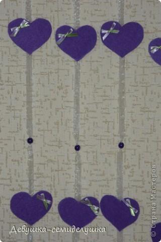 Поделка, изделие: Лавандовая свадьба: гирлянда для декора банкетного зала. Бусинки, Ленты Свадьба. Фото 2
