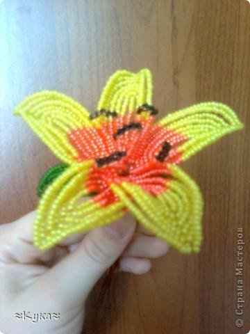 Мастер-класс Бисероплетение: Цветок из бисера! Бисер Отдых. Фото 14