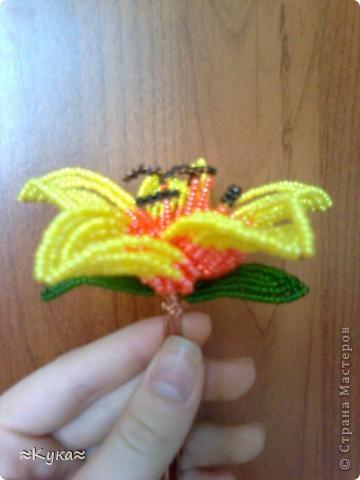 Мастер-класс Бисероплетение: Цветок из бисера! Бисер Отдых. Фото 15